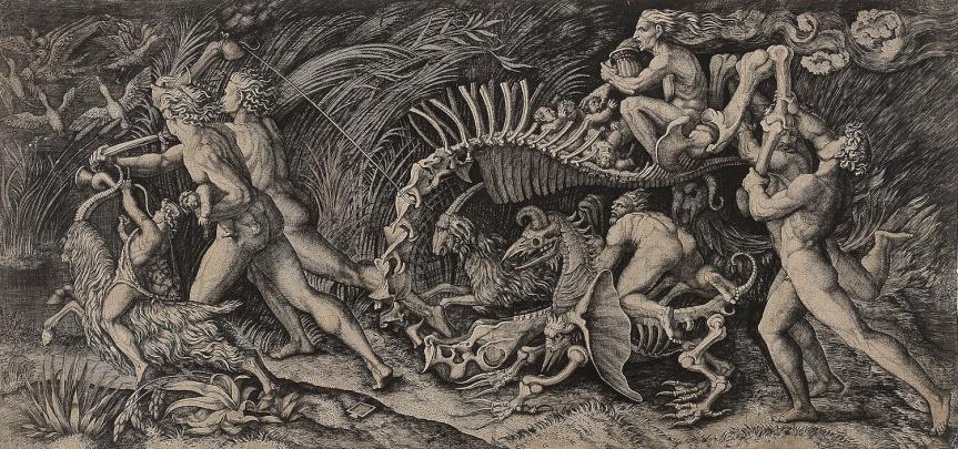 marcantonio-and-agostino-de-musi-called-agostino-veneziano-raimondi-lo-stregozzo-the-witches-procession-after-raphael-or-giulio-romano-1520s