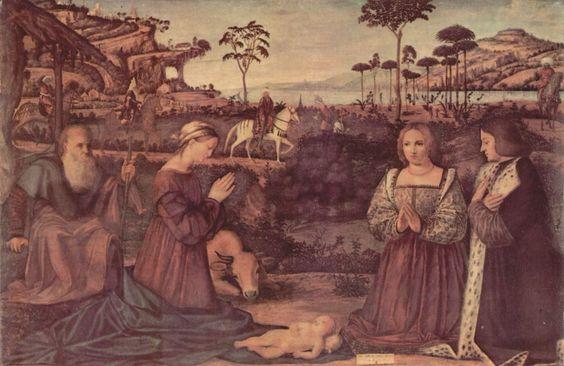 vittore-carpaccio-heilige-familie-und-zwei-stifter-in-anbetung-des-christuskindes-1505