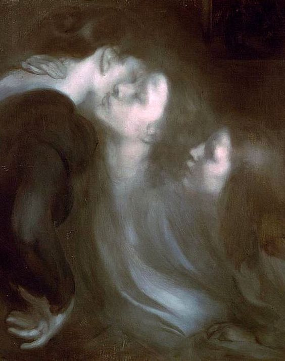 Eugène Carrière,Mother_s Kiss, 1899