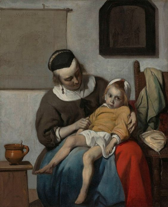 Gabriel Metsu THE SICK CHILD late 1650's