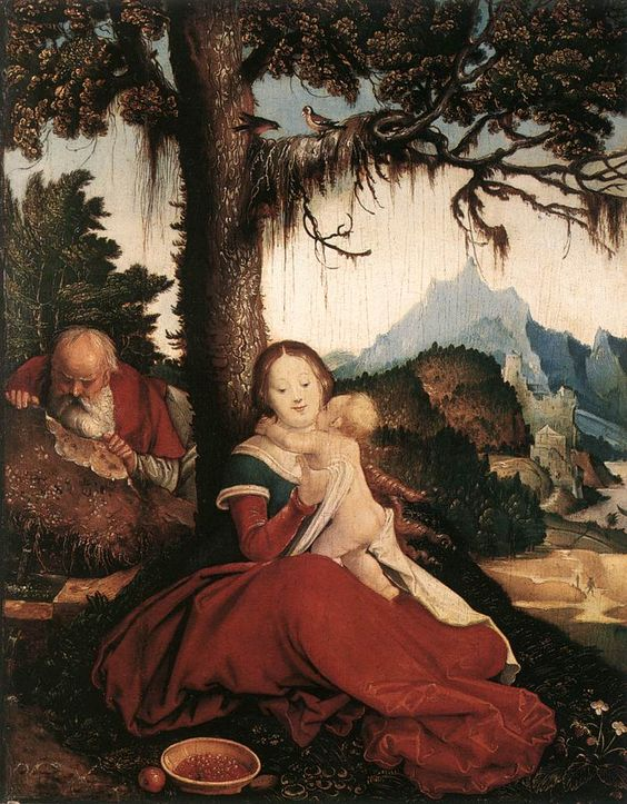 Hans Baldung Grien, Rest on the Flight to Egypt, 1511 - 1514