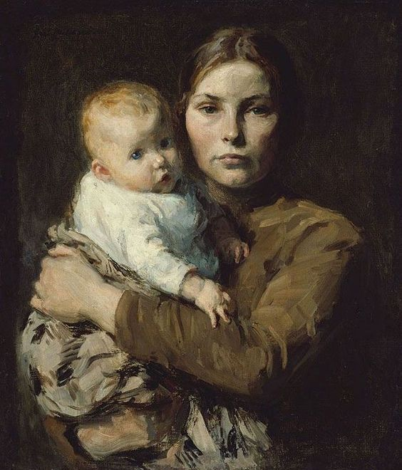 JULIUS GARIBALDI MELCHERS (Gari Melchers) (1860-1934) Mother and Child, 1904