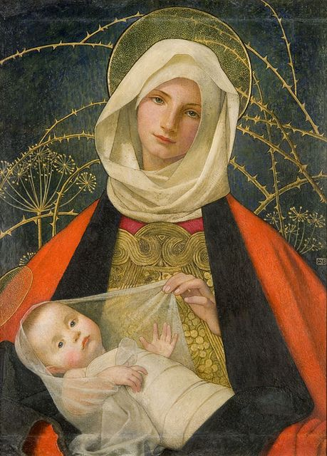 Madonna by Marianne Stokes, late 19th century
