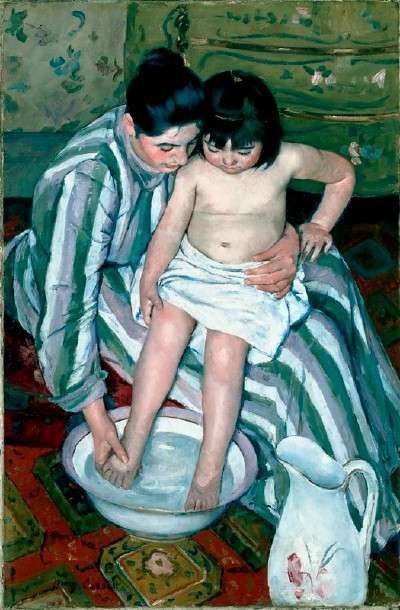The Child's Bath by Mary Cassatt, 1893