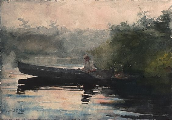 Winslow Homer The End of the Day, Adirondacks